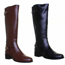 Elasticated Knee High Boots Slim Heel Shoes for Women