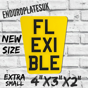 FLEXIBLE Extra X-Small TAPERED SHOW NUMBER PLATE KTM ENDURO MOTORCYCLE FLEXI REG
