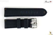 Bandenba 22mm Genuine Blue Textured Leather Panerai Stitched Watch Band Strap