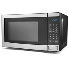 Microwave Oven Stainless Steel 700W Output 10 Power Levels 0.7 cu ft Compact New
