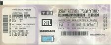 RARE / TICKET DE CONCERT - JOHNNY HALLYDAY LIVE AU STADE DE FRANCE - PARIS 2012