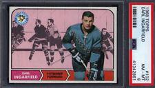 1968 Topps #102 Earl Ingarfield Penguins PSA 8 *698158
