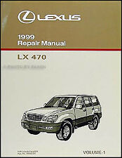 1999 lexus lx 470 diagnosis repair manual volume 1 lx470 shop diagnostic  codes