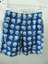 Nwt Youth Boys Large * Gap Kids * Funny Skull Blue Edge Swim Trunks Shorts T-36