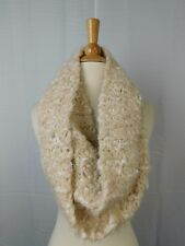 Charter Club Super Soft Chenille Infinity Loop Cowl Scarf Beige, Khaki #5817
