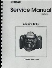 Pentax 67II Camera Repair Manual, Includes AE Prism Finder