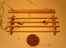 DOLLS HOUSE 1/12 SCALE CEILING LAUNDRY CLOTHES AIRER WIT CEILING FITTING BAR