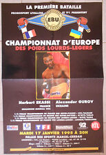 BOXE CHAMPIONNAT EUROPE Poids Lourds-Légers NORBERT EKASSI Alexander Gurov 1995