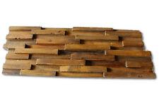 Teak Altholz Wand Verblender Verkleidung Paneele Wandfliese Riemchen Holz Deko