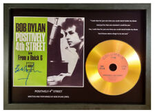 BOB DYLAN 'POSITIVELY 4th STREET' SIGNED PHOTO GOLD CD COLLECTABLE MEMORABILIA