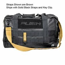 Push Division One Duffel Paintball Gear Bag - Black w/ Black Straps
