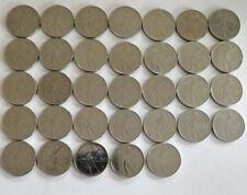 REPUBBLICA ITALIANA 50 lire monete lotto di 33 MONETE 1954-1986