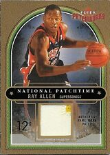 03/04 Patchworks National Patchtime #RA Ray Allen NBA 2 Color Patch #096/100