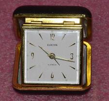 Vintage Europa 2 Jewels Alamr Clock.