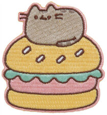 """LICENSED PUSHEEN """"BURGER"""" IRON-ON PATCH NEW IN PACKAGE"""