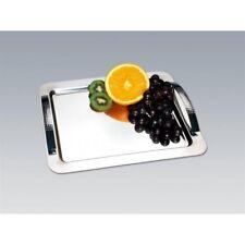 Servierplatte Serviertablett mit Designergriffen Edelstahl Tablett CHG