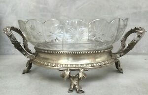 "Antique German centerpiece high quality silver plate and alpaca silver 1800""s"