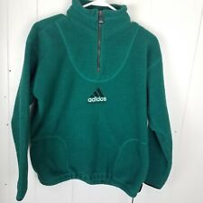 Vtg Adidas Equipment Fleece Men's Green 1/2 Zip Sweatshirt Long Sleeve Pull Over