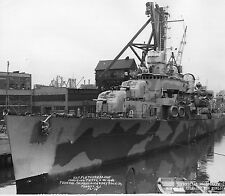 WWII Photo USS Fletcher DD-445 US Navy Destroyer World War Two WW2 USN  / 7110