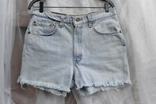 Vintage LEVIS USA frayed jean shorts 550 cut off FADED high waist 33 mom grunge