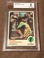 1973 Topps Reggie Jackson #255 BVG 8 NM-MT