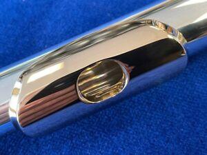 Neuf Miyazawa Flûte Tête Rotule - MZ10 En Brittania Argent (958) Avec / 14K