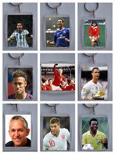 Sports Stars, Football / Soccer, Photo Keyring / bag tag, clear plastic,