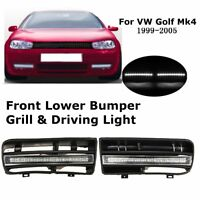 Pair 12 LED Bumper Grille Daytime Running Fog Lights DRL For VW Golf MK4 1997-06
