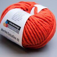 Schachenmayr Merino Extrafine 40 - 325 orange 50g Wolle (8.50 EUR pro 100 g)