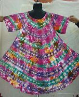 Tie Dye hand Block Hippie Tunic Top Dress Boho Beach Size 14 16 18 20 22 24 26