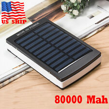 Waterproof 80000mAh Solar Battery Charger Power Bank For iPhone 6 7 Samsung