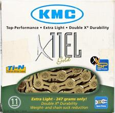 KMC X11EL Gold Ti-N 11-Speed Road Bike Chain 118L Extra Light fits SRAM Shimano