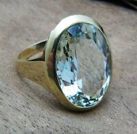 Schicker Ring mit Aquamarin aus 585 Gold