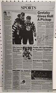 Brett Hull Autographed St Louis Post Dispatch Printing Plate Signed 1/1