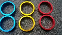 "2 x 10mm HEADSET SPACERS 1⅛"" BICYCLE CNC MACHINE LIGHT ALLOY FIXIE BMX MTB #213"