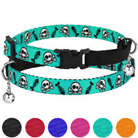 Breakaway Cat Collar Adjustable Kitten Collars with Bell Safety Elastic Strap