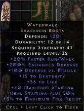 Waterwalk Boots   Wasserwanderung Stiefel   Diablo 2 Resurrected D2R SC