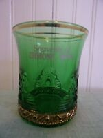 EMMONS MINN MN MINNESOTA SOUVENIR GREEN SPOONER GLASS