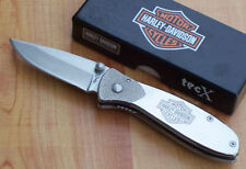 Couteau Harley Davidson Tec X Tags-L Lame Acier 440 Manche Acier CA52083
