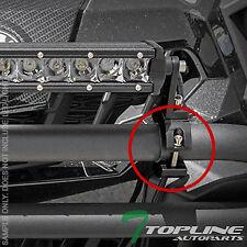 "TEXTURE BLACK 2"" TUBE BULL BAR ROLL CAGE MOUNT BRACKET CLAMPS FOR LED LIGHT T57"