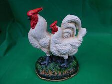 ROOSTER AND CHICKEN  CAST IRON  DOORSTOP