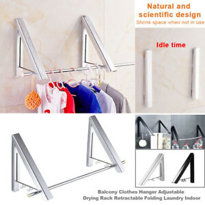 Folding Multifunction Drying Rack Retractable Tool Punch Free Clothes Hanger