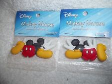 2 pkgs Dress It Up Disney Buttons-Mickey Mouse New!