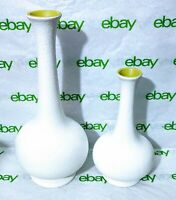 "Pair Vintage Mid Century Royal Haeger Pottery Ceramic Textured Vase 10.5"" & 7.5"""