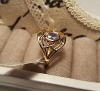 Beautiful Mercury Mystic Topaz Solitaire Ring 14k Gold/Platinum O/L S/Silver