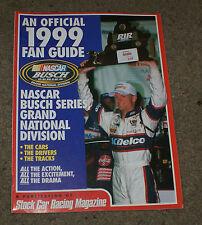 Stock Car Racing Magazine Official 1999 Fan Guide Nasca Busch Series