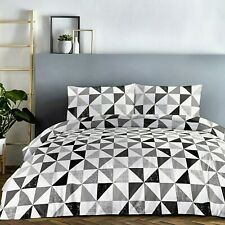 Geometric Modern Black And Silver,Bedding Sets,Duvet Cover Sets,Polyester/Cotton