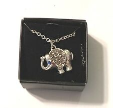 - Crystals New in Box Avon Elephant Good Luck Necklace