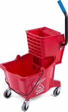 Carlisle Commercial Mop Plastic Bucket With Side Press Wringer 26 Quart Dm