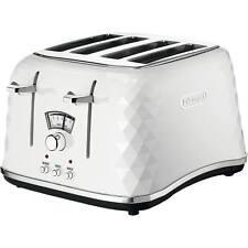 Delonghi CTJ4003.W Brillante 4 Slice Electronic Control Toaster in White